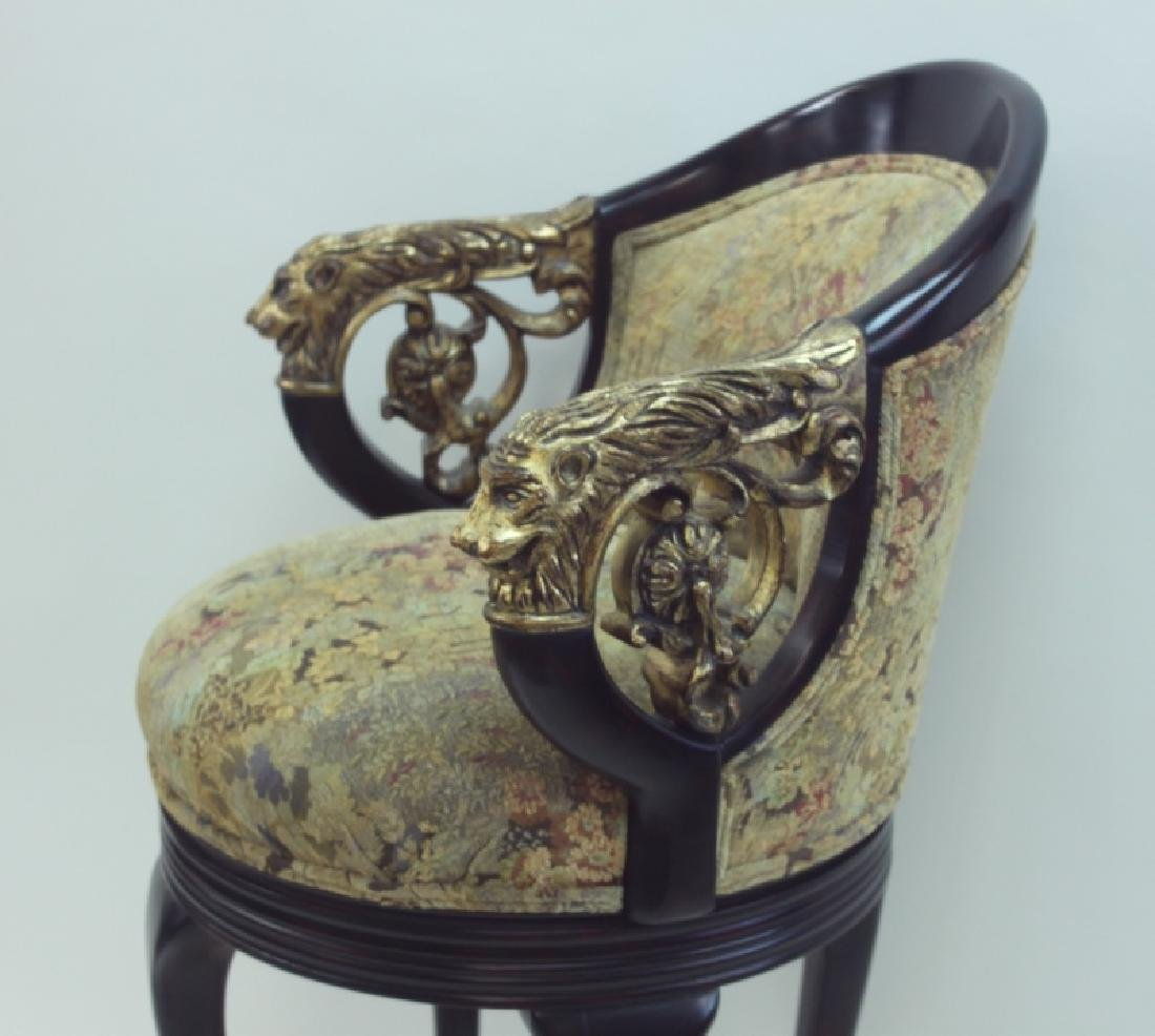 (4) Regency Barstools w Lion Heads & Claw Feet - 5