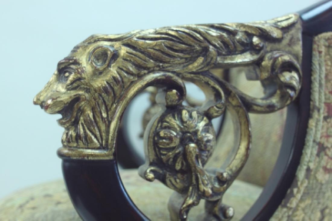 (4) Regency Barstools w Lion Heads & Claw Feet - 7