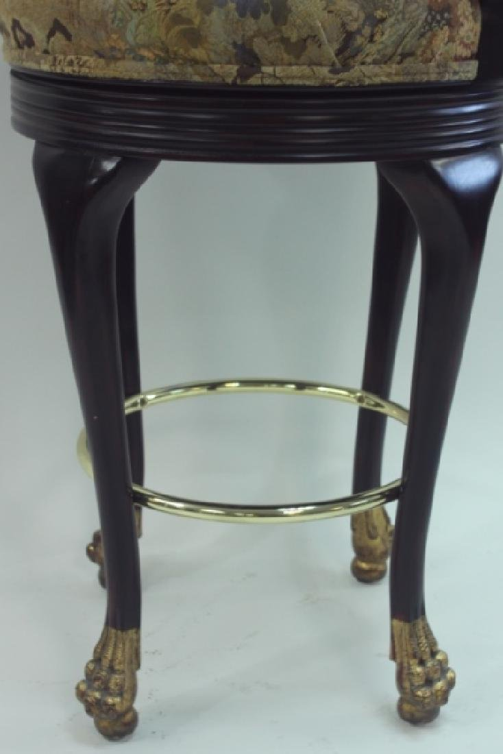 (4) Regency Barstools w Lion Heads & Claw Feet - 8