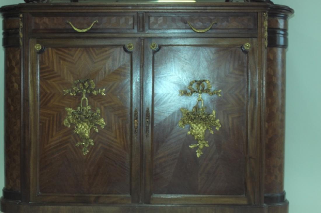 19C Louis XVI Sideboard / Server w Vitrine Cabinet - 6