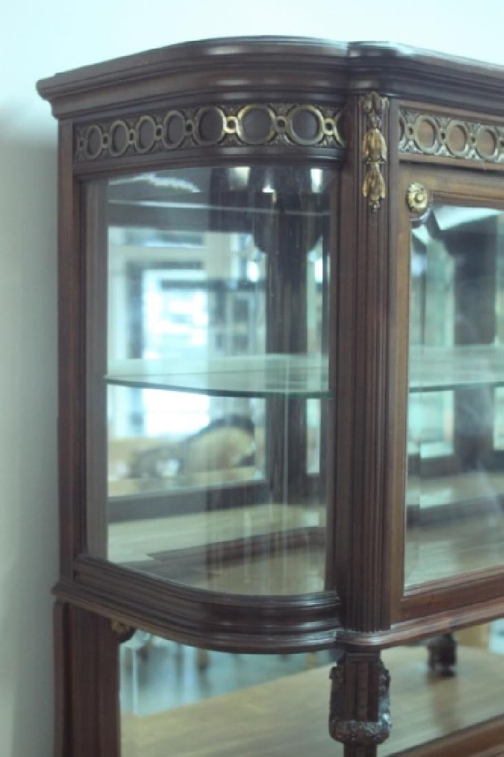 19C Louis XVI Sideboard / Server w Vitrine Cabinet - 7