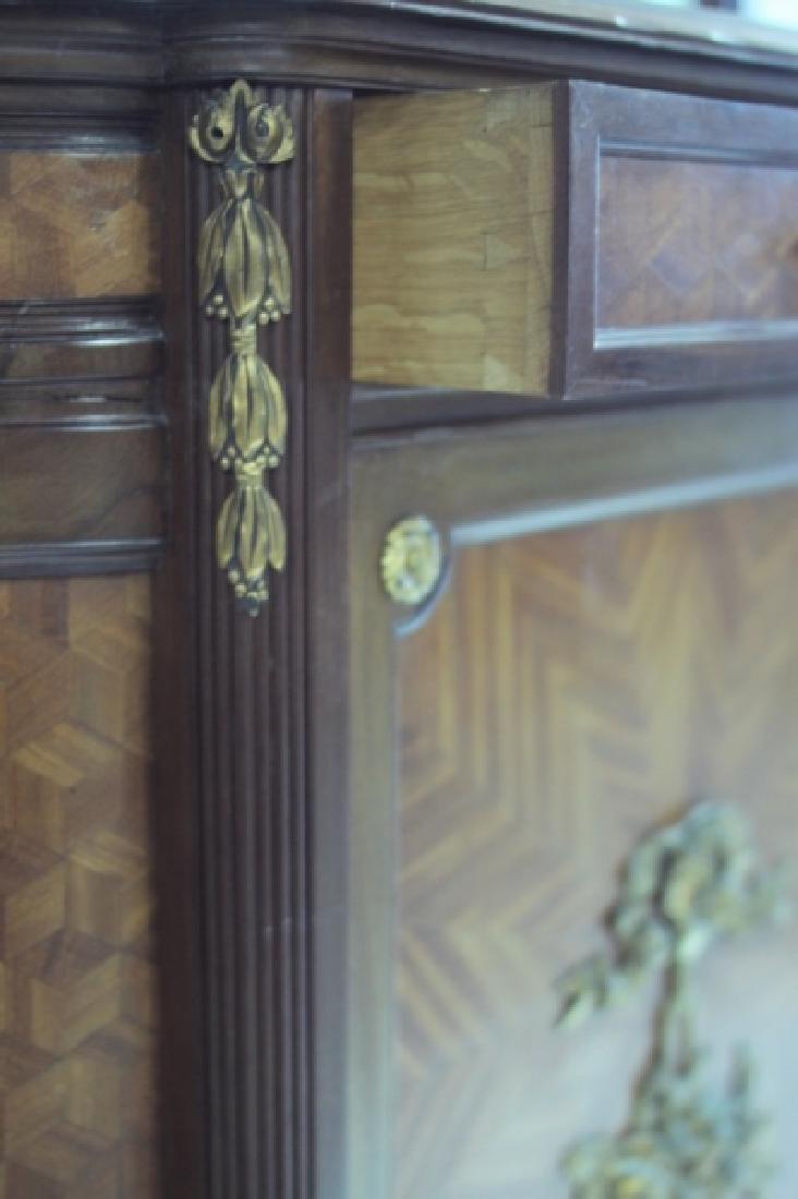19C Louis XVI Sideboard / Server w Vitrine Cabinet - 8