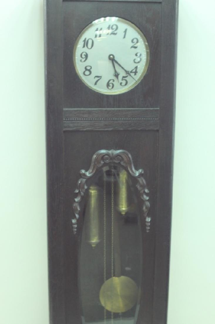 Arts & Crafts Bavarian Oak Grand Fathers Clock - 4