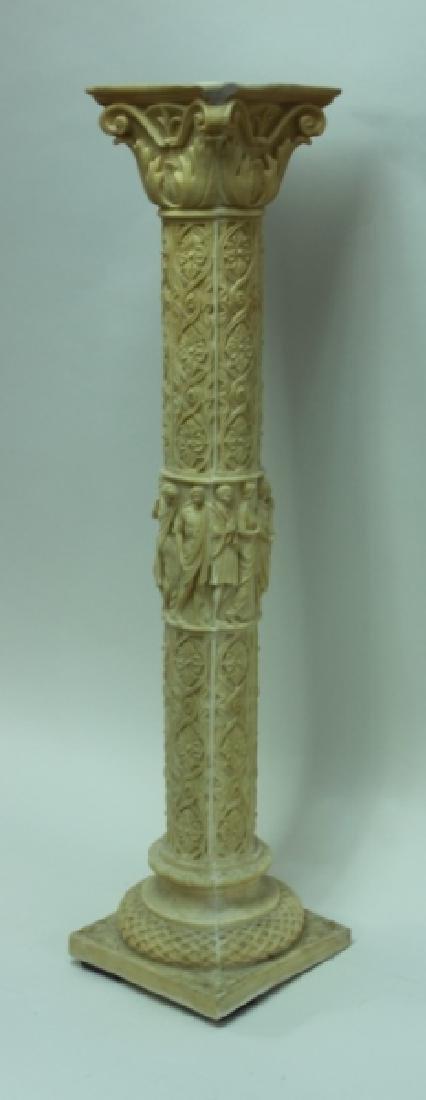 Renaissance Cast Marble Pedestal Greek Figures - 3