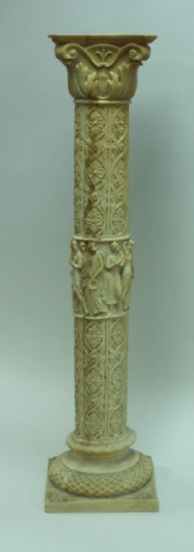 Renaissance Cast Marble Pedestal Greek Figures - 6