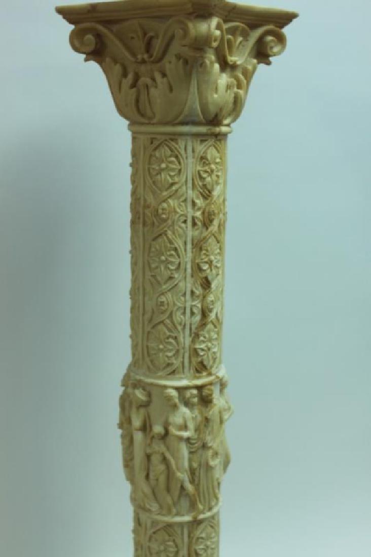 Renaissance Cast Marble Pedestal Greek Figures - 7