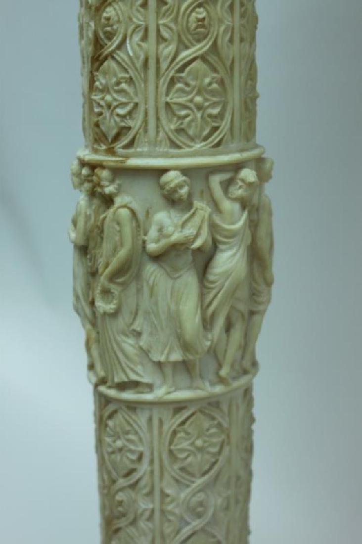 Renaissance Cast Marble Pedestal Greek Figures - 8