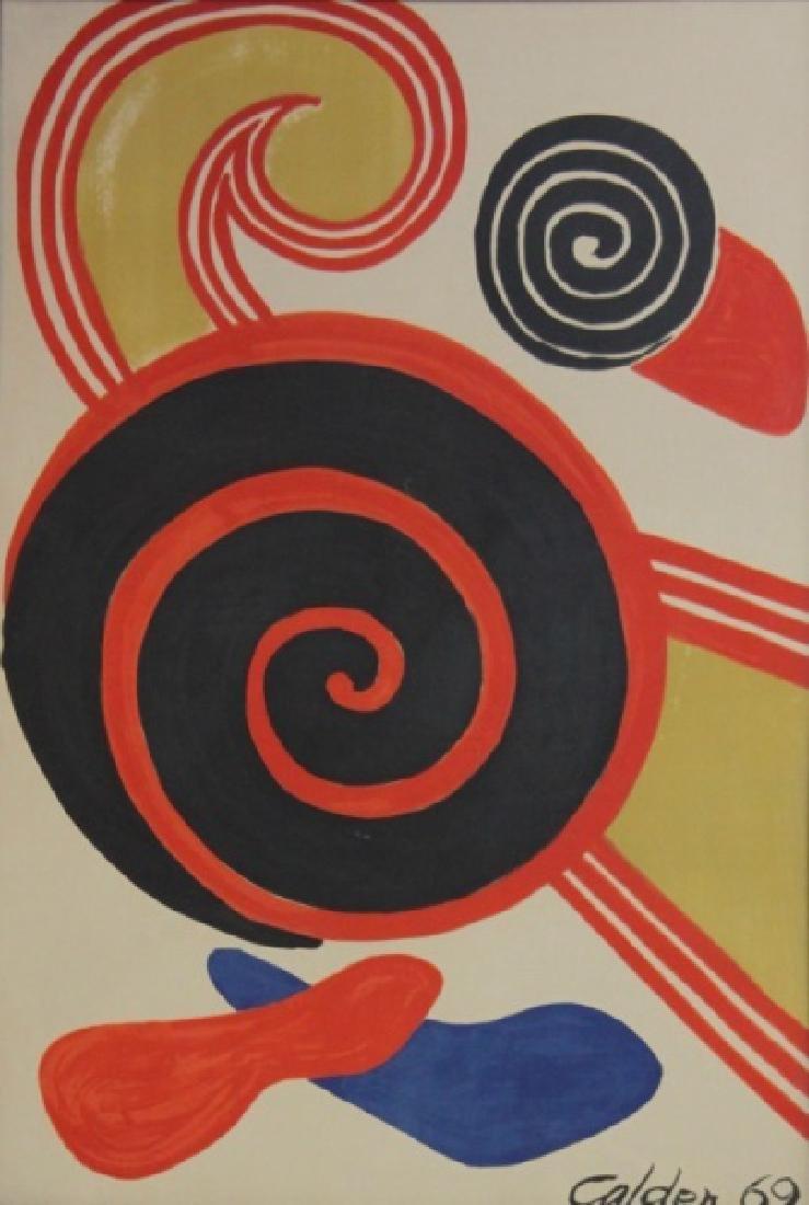 """Alexander Calder (1898-1976) Litho """"Espirales"""""""