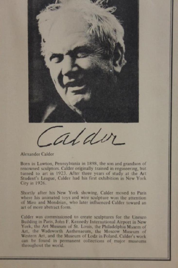 """Alexander Calder (1898-1976) Litho """"Espirales"""" - 5"""