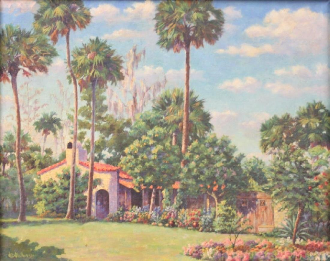 HC Wotherspoon Old Florida Painting Yamasee Jungle