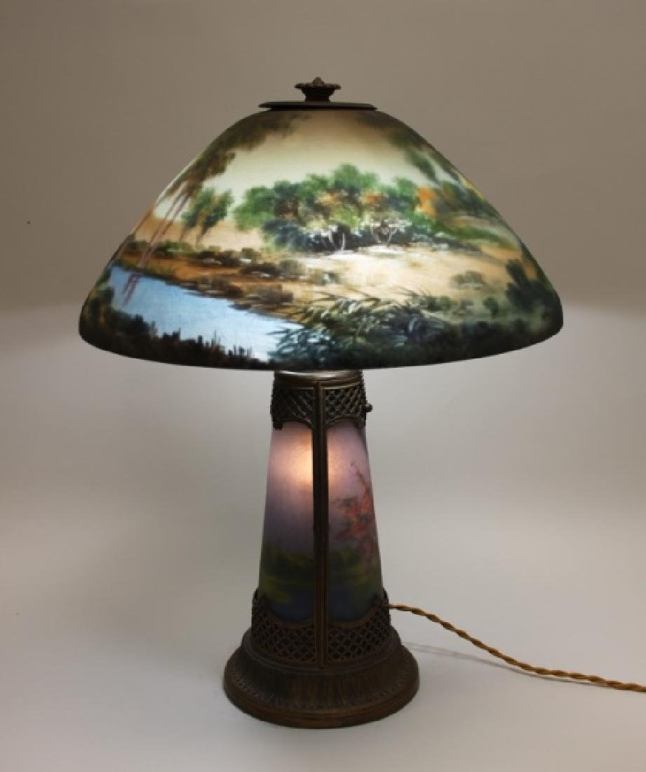 Moe Bridges Co Milwaukee Arts & Crafts Table Lamp