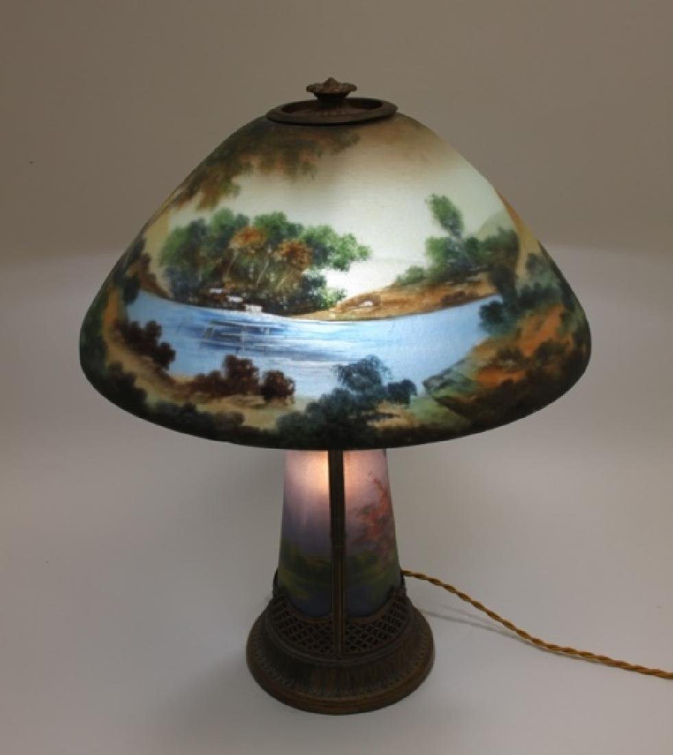 Moe Bridges Co Milwaukee Arts & Crafts Table Lamp - 2