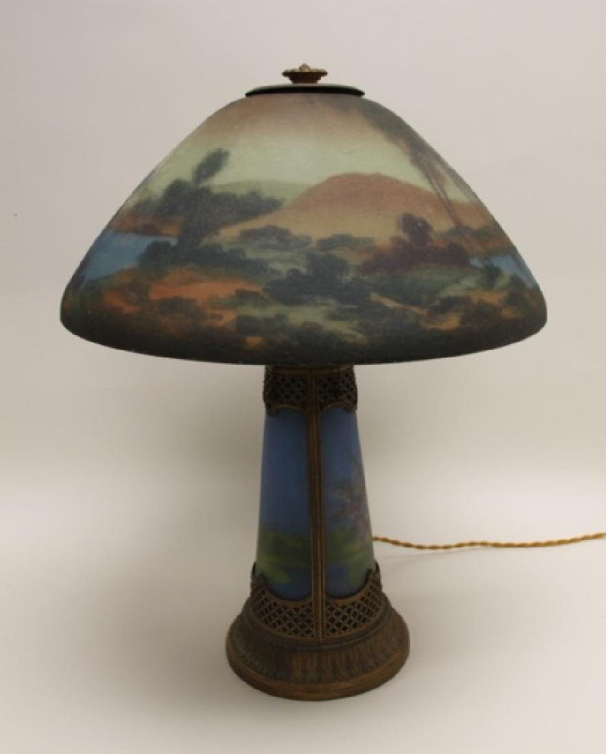 Moe Bridges Co Milwaukee Arts & Crafts Table Lamp - 4