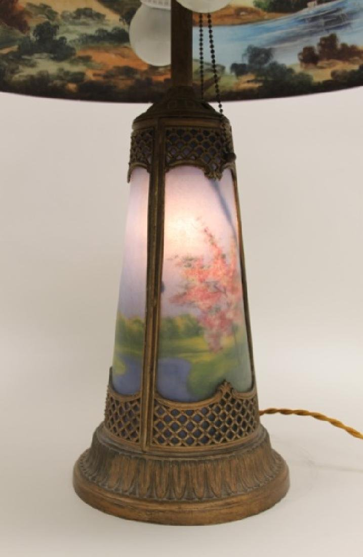 Moe Bridges Co Milwaukee Arts & Crafts Table Lamp - 9
