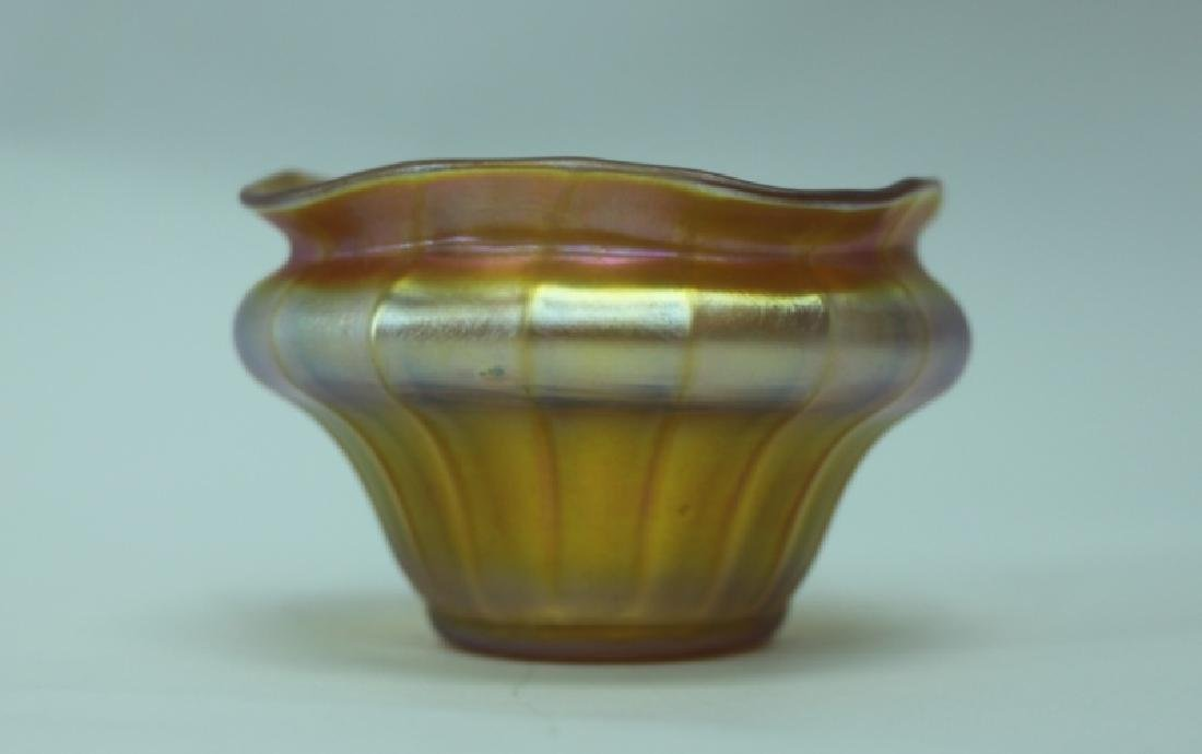 LCT Tiffany Favrile Quezel Iridescent Gold Finger Bowl