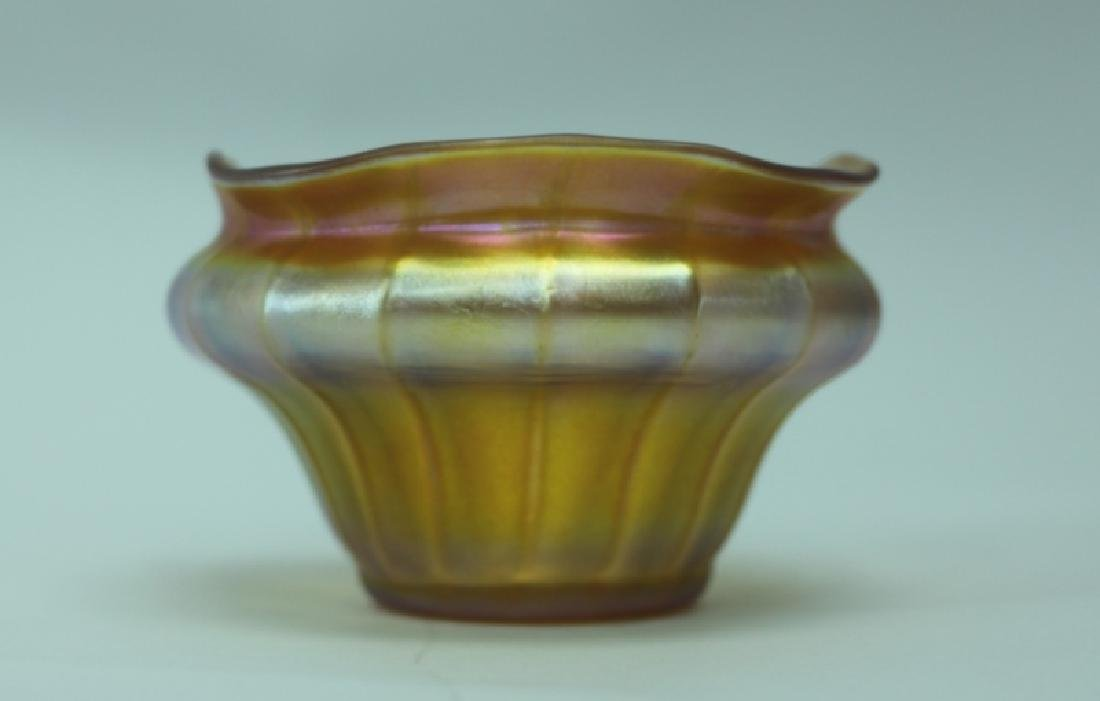 LCT Tiffany Favrile Quezel Iridescent Gold Finger Bowl - 2
