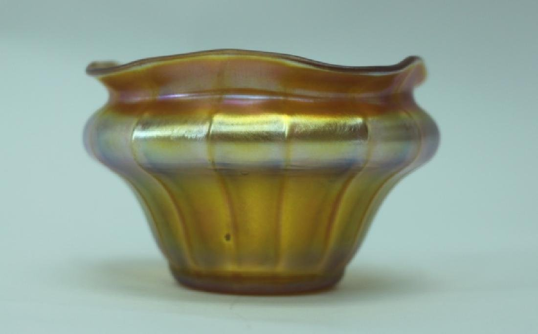 LCT Tiffany Favrile Quezel Iridescent Gold Finger Bowl - 3