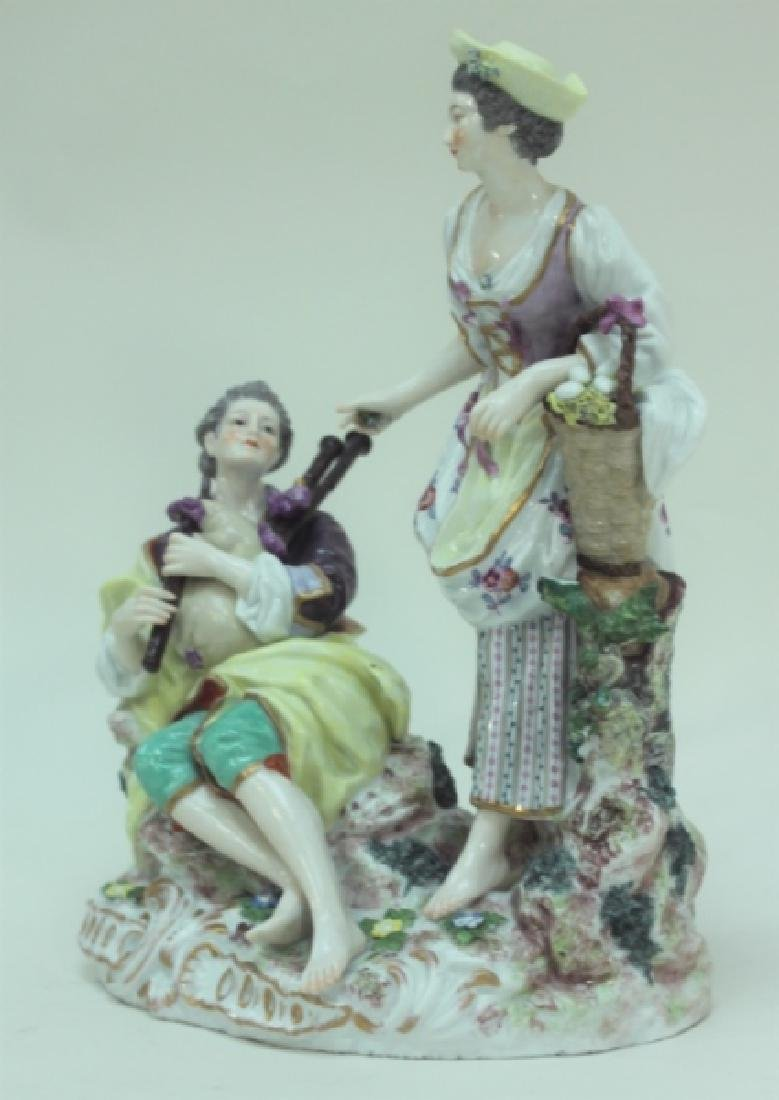 (2) 19C Royal Vienna Porcelain Figural Groups - 3