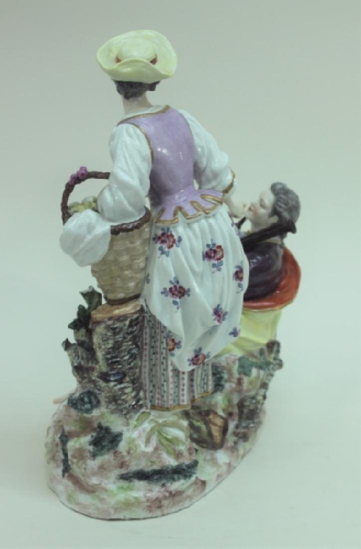 (2) 19C Royal Vienna Porcelain Figural Groups - 4