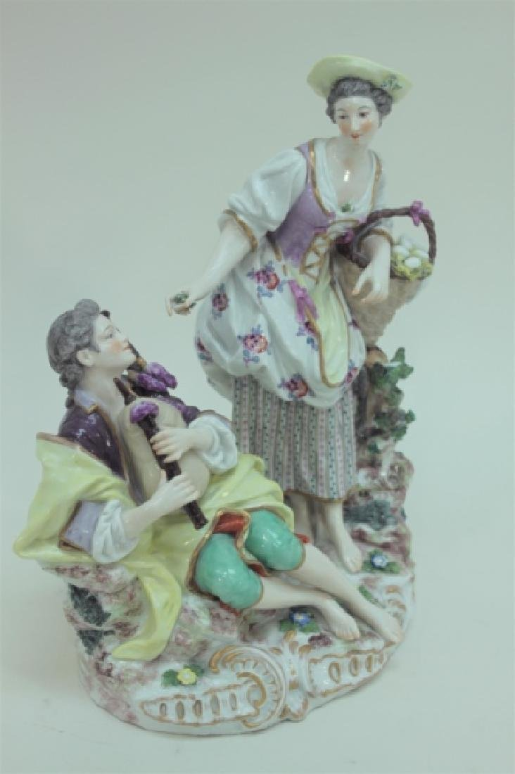 (2) 19C Royal Vienna Porcelain Figural Groups - 5