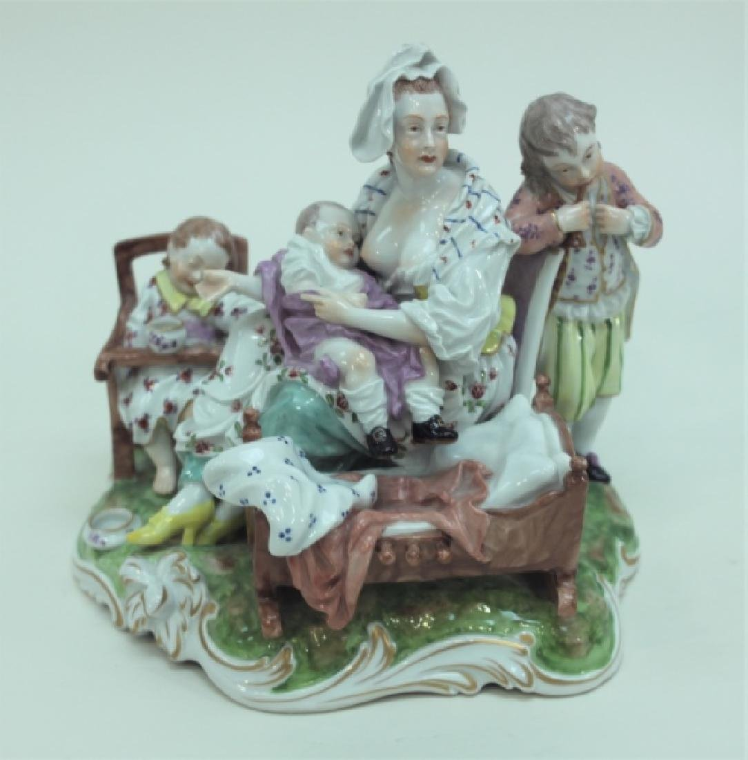 (2) 19C Royal Vienna Porcelain Figural Groups - 6