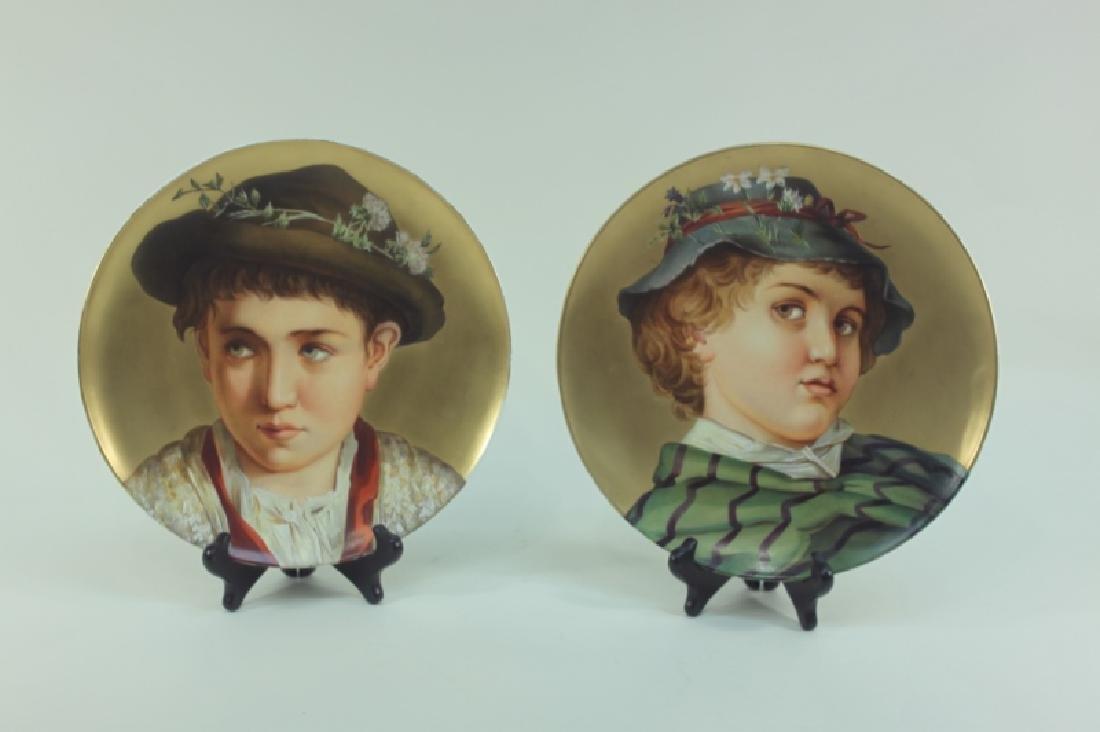 2-19C Arnold & Ludwig Schutz Cilli Portrait Plates