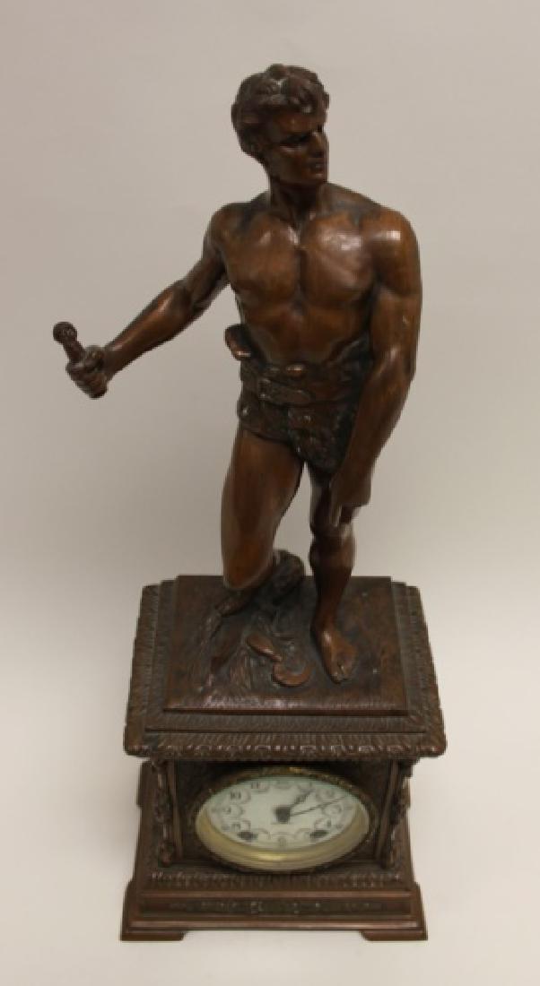 Seth Thomas Bronze WPA Male Figural Clock - 4