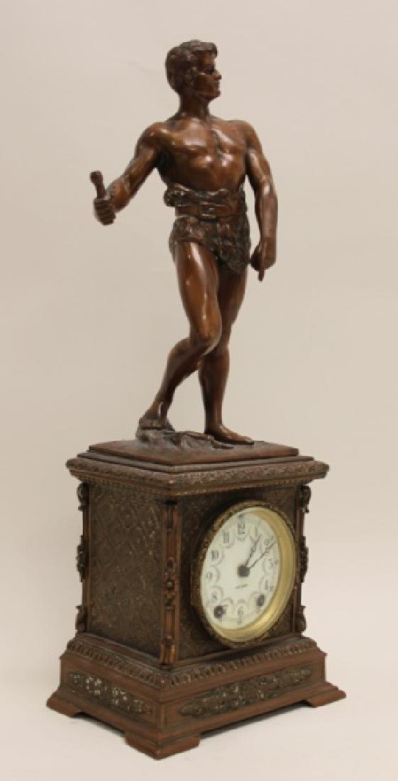 Seth Thomas Bronze WPA Male Figural Clock - 5