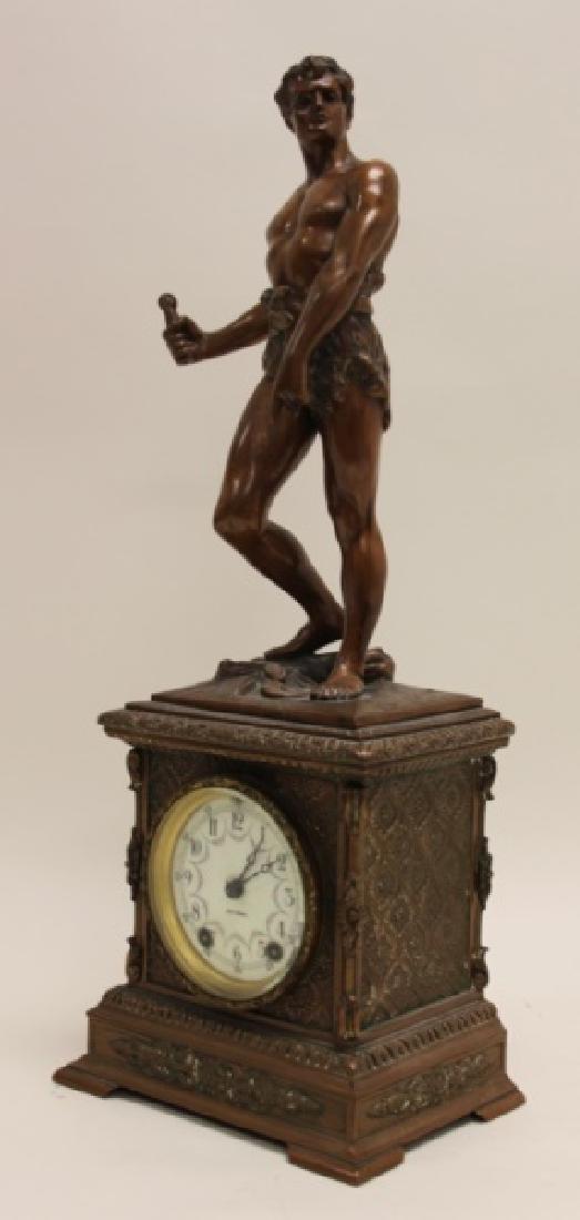 Seth Thomas Bronze WPA Male Figural Clock - 6