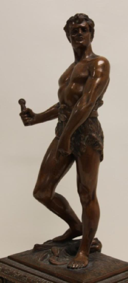 Seth Thomas Bronze WPA Male Figural Clock - 7