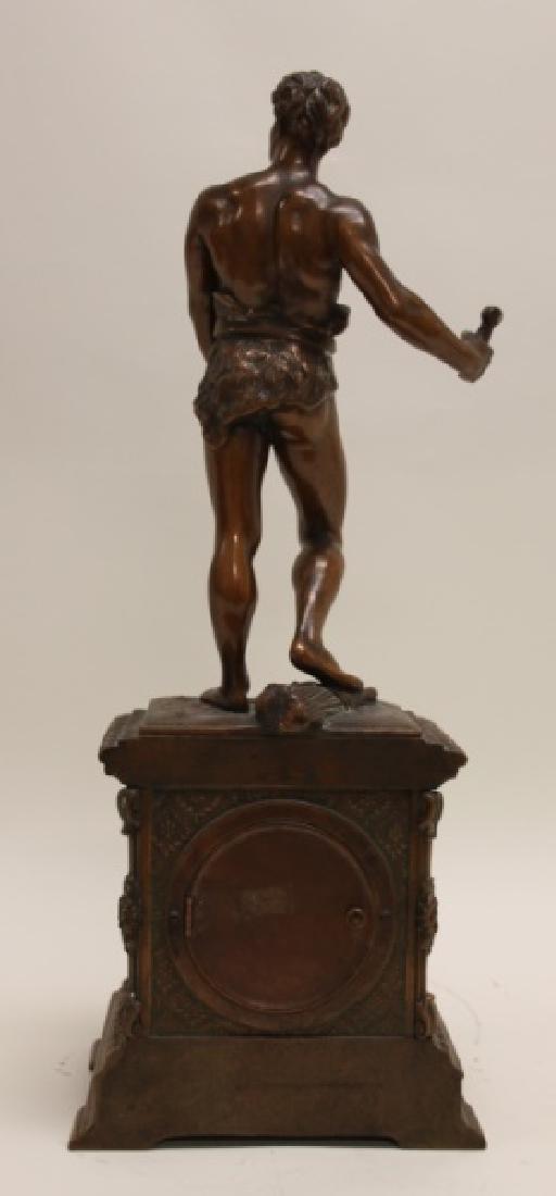 Seth Thomas Bronze WPA Male Figural Clock - 8