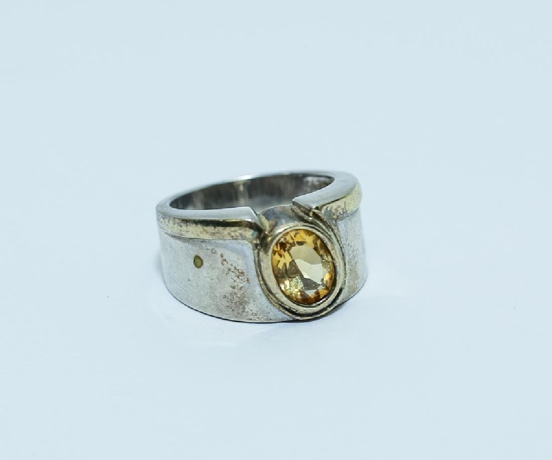 (3) Vintage Gemstone & Sterling Silver Rings - 2