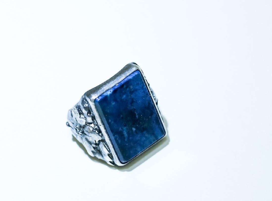 (3) Vintage Gemstone & Sterling Silver Rings - 3