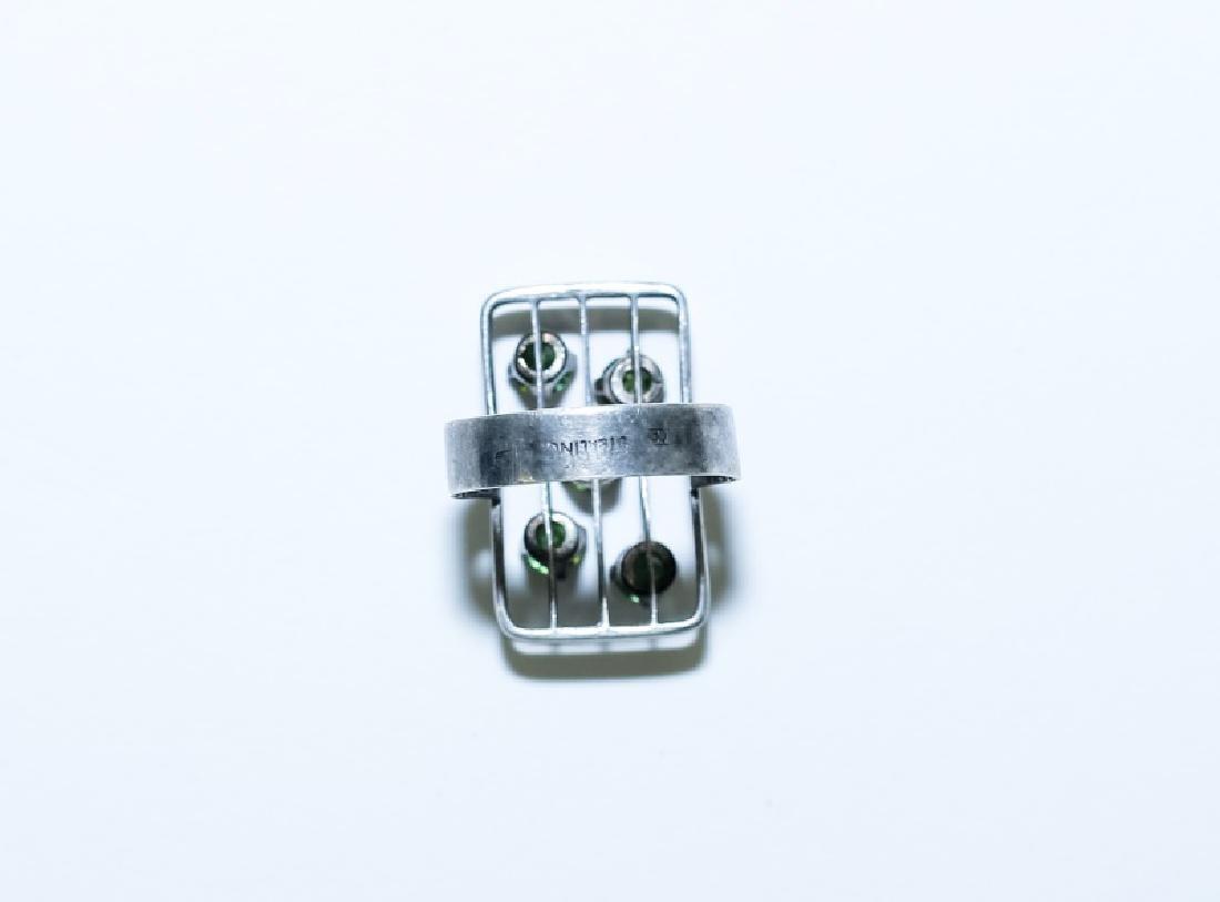 (3) Vintage Gemstone & Sterling Silver Rings - 4
