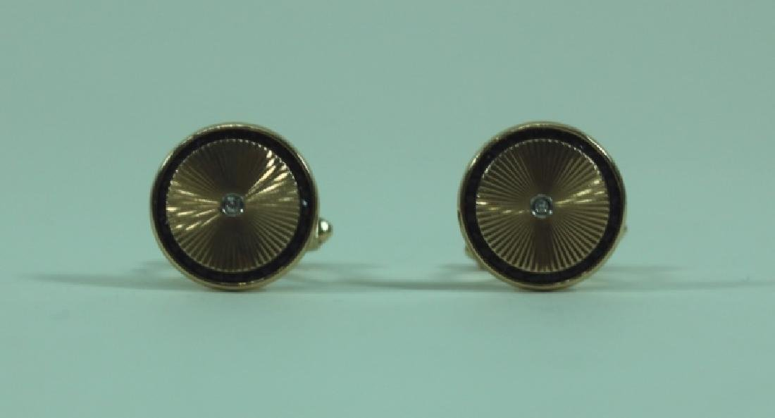 Lucien Piccard Men's Jewelry 14K Gold Cufflinks