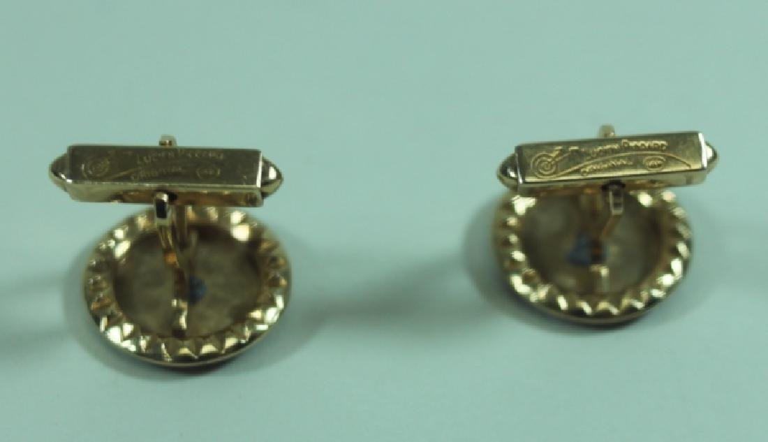 Lucien Piccard Men's Jewelry 14K Gold Cufflinks - 4