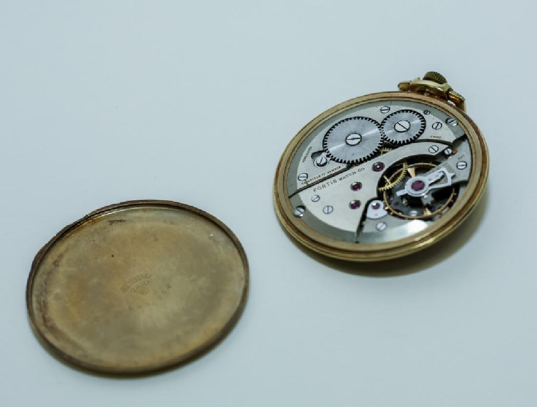(3) 14K Gold Men's Pocket Watches - 10