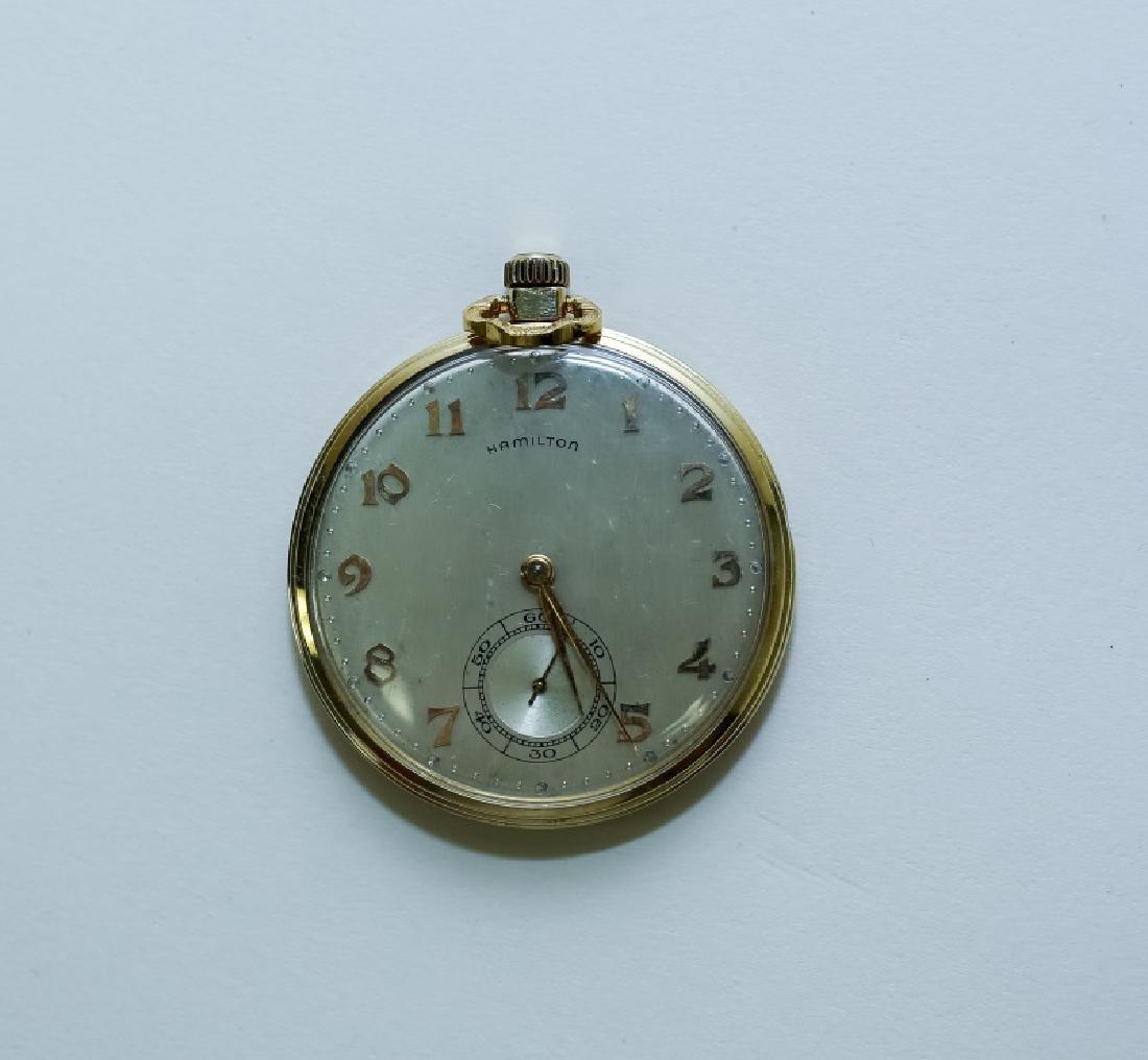 (3) 14K Gold Men's Pocket Watches - 2
