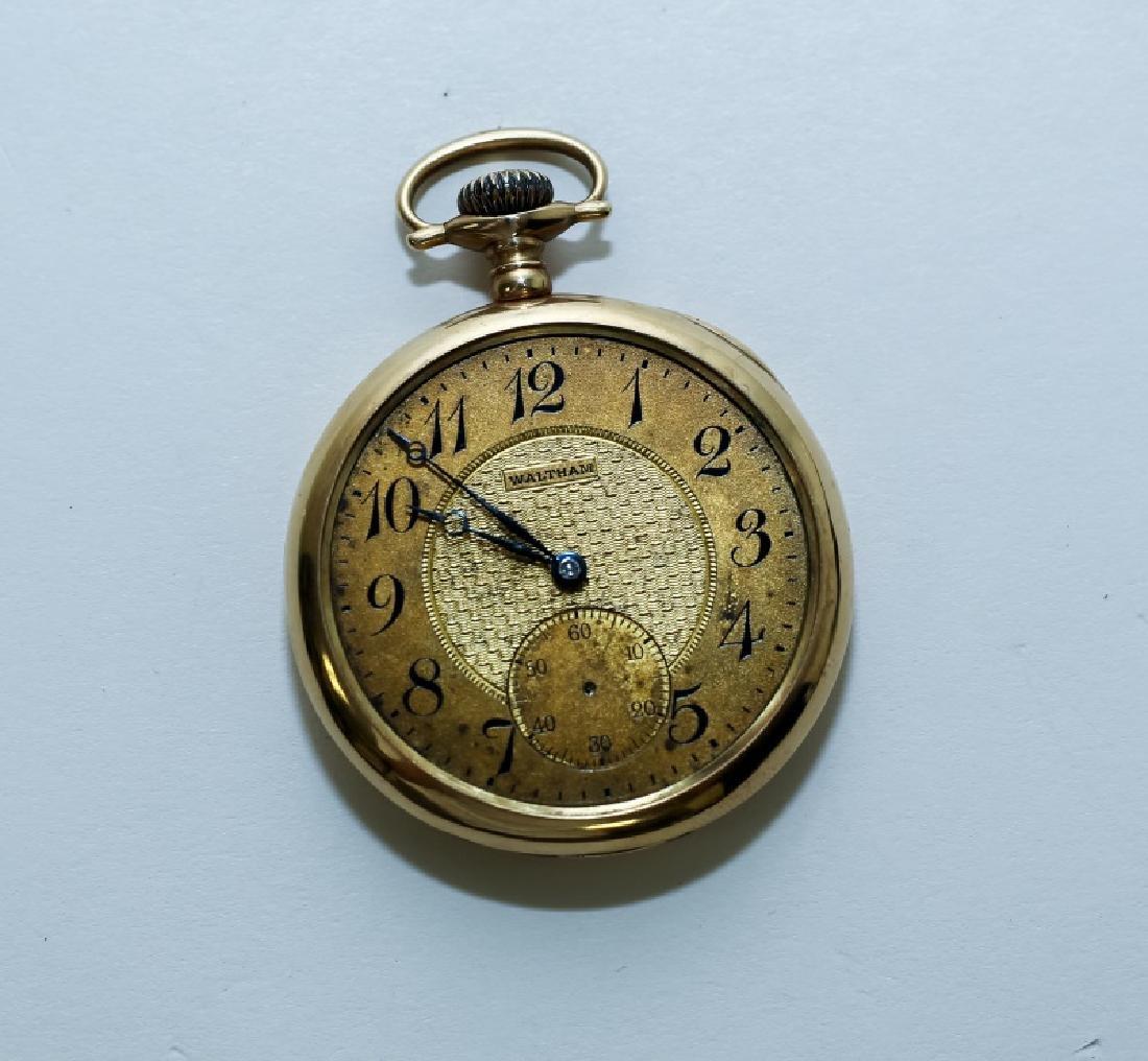 (3) 14K Gold Men's Pocket Watches - 3