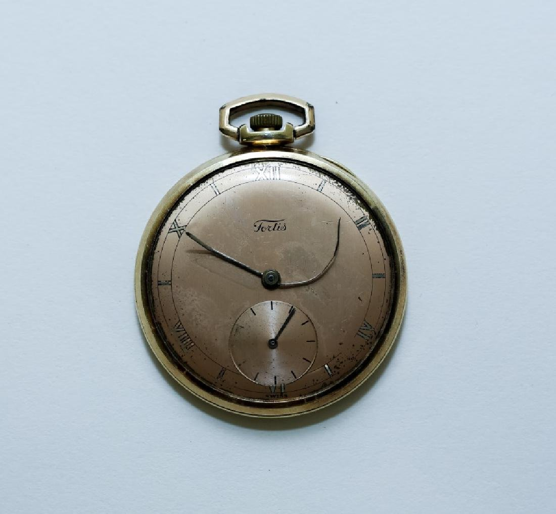 (3) 14K Gold Men's Pocket Watches - 4