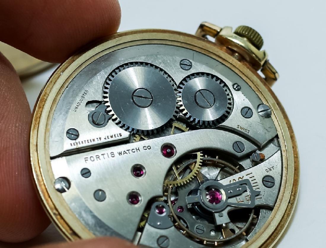 (3) 14K Gold Men's Pocket Watches - 5