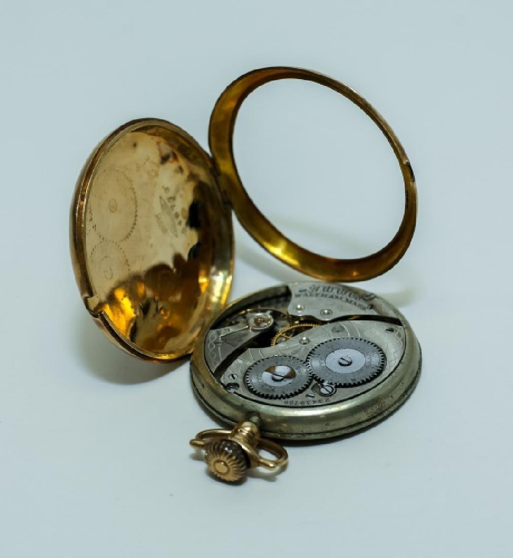 (3) 14K Gold Men's Pocket Watches - 8