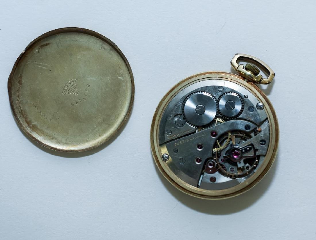 (3) 14K Gold Men's Pocket Watches - 9