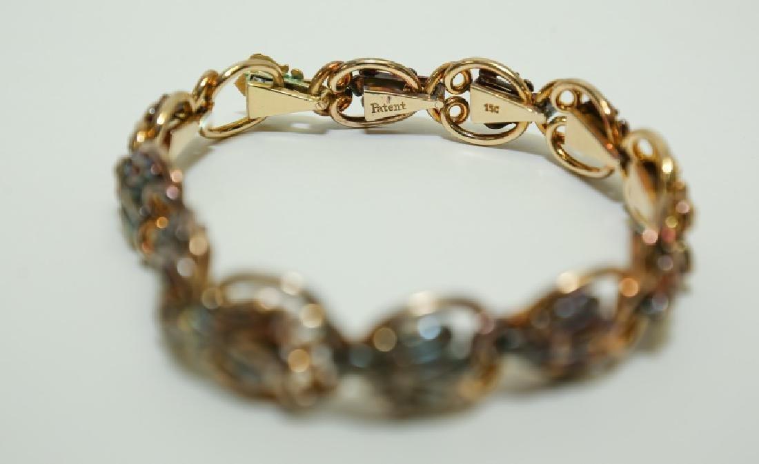 (2) Vintage 15K & 14K Gold Link Bracelets - 2