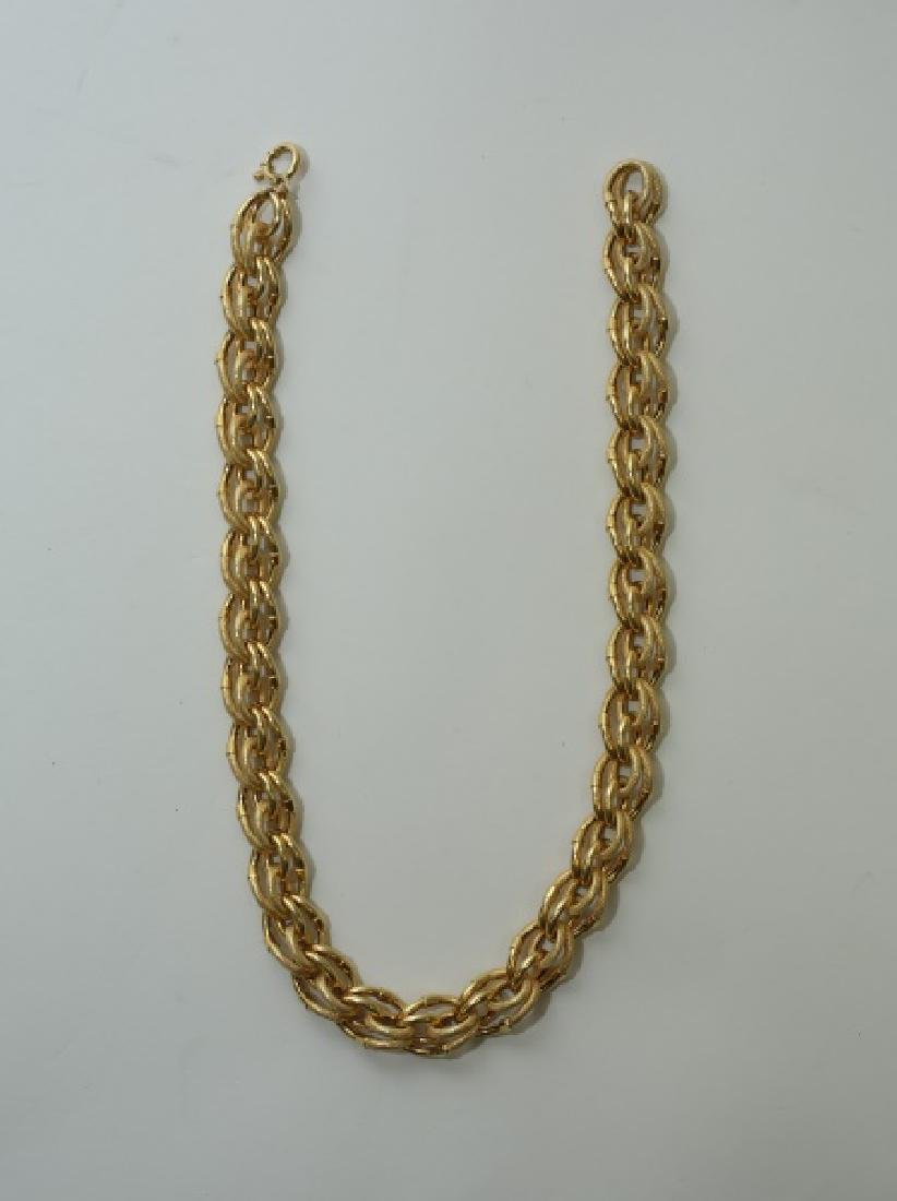1950's 18K Gold Heavy Double Link Cable Chain - 2