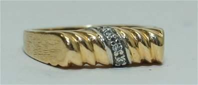 Vintage 14K Gold  Diamond Ladies Cocktail Ring