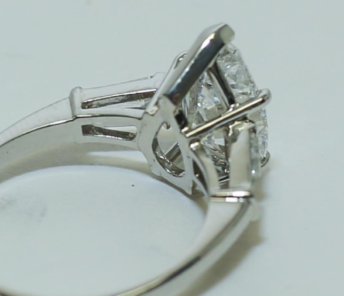 3.1 Carat GIA Report 6187079656 VS2 E Pear Diamond Ring - 5