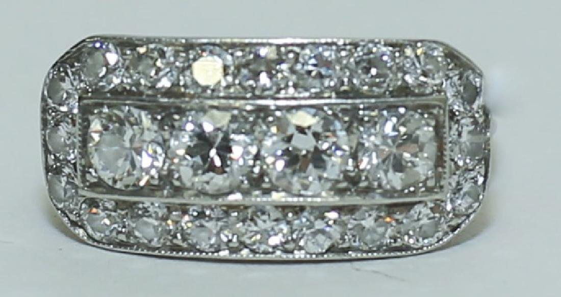 Art Deco Platinum & Diamond Ladies Cocktail Ring