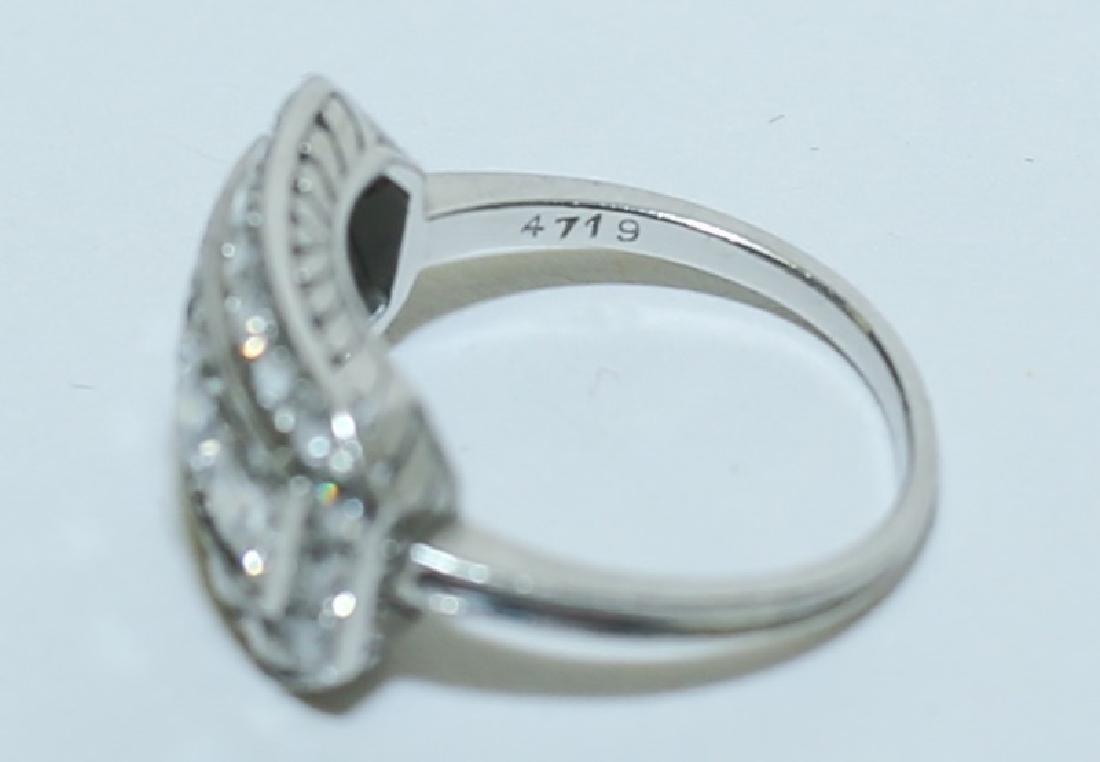 Art Deco Platinum & Diamond Ladies Cocktail Ring - 2