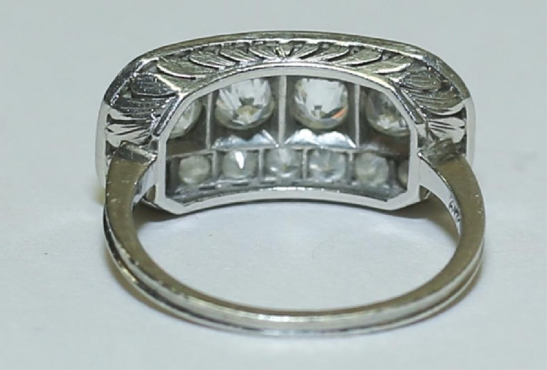 Art Deco Platinum & Diamond Ladies Cocktail Ring - 5